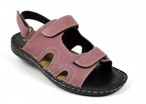 Nubuck Sandals with Back Strap