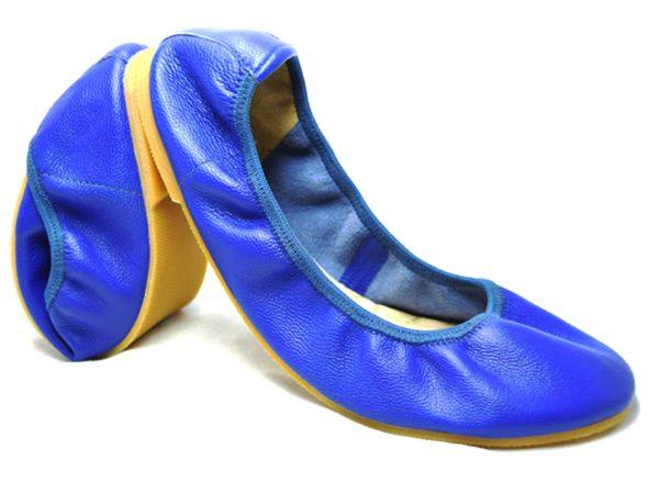 Foldable Ballets-Lovey Doveys in Genuine leather for women